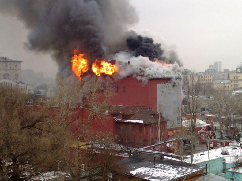 Пожар в центре Москвы (18 фото + видео)