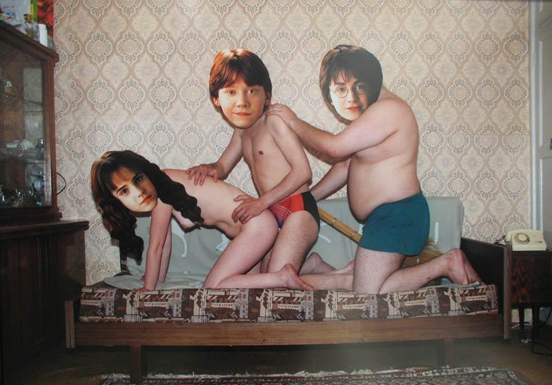 Фотожаба - любительская эротика + знаменитости (19 фото)