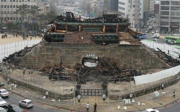 Пожар в Южной Корее (6 фото)