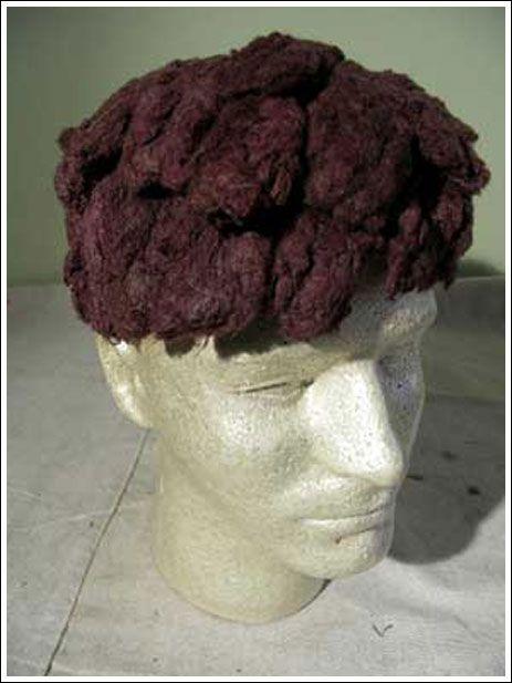 Самопальный парик из колготок (6 фото) .