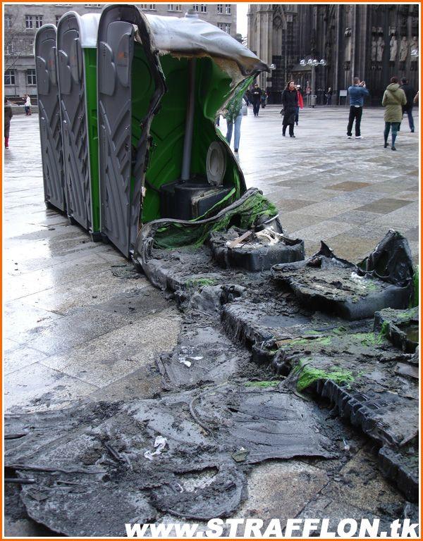 Сгоревшие туалеты (6 фото)