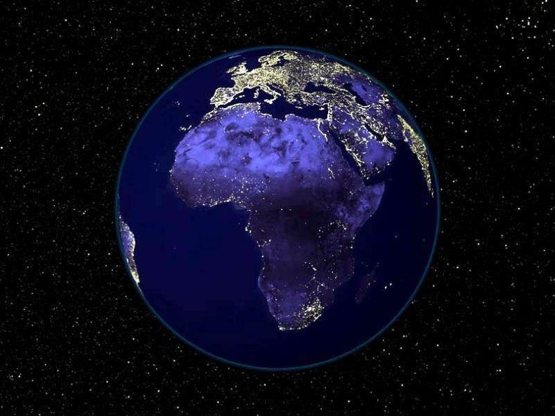 Очень красивые снимки ночной Земли из космоса (5 фото)