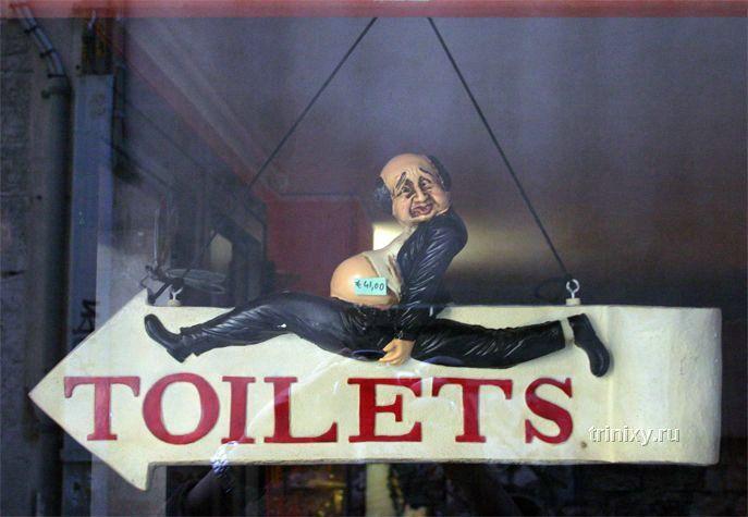 Самые необычные туалетные вывески в мире (92 фото)