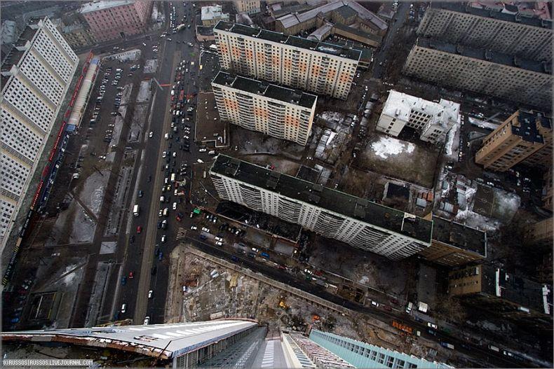 Москва с высоты небоскреба (13 фото)