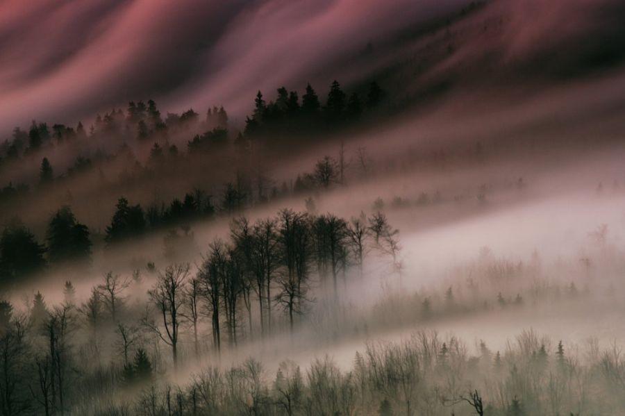 Очень красивый рассвет в горах (7 фото)