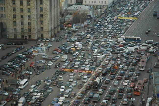 Пробки в различных странах мира