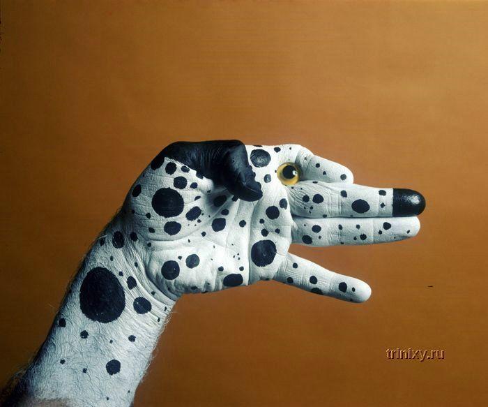 Потрясающие рисунки на руках (44 фото)