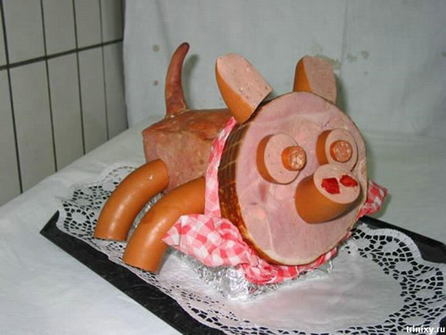 Зверюшки из мяса (10 фото)