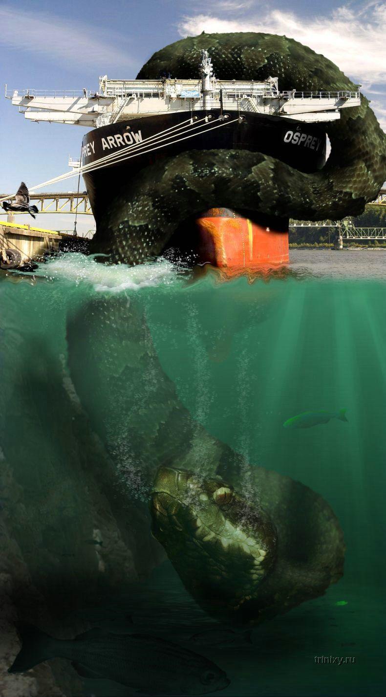 монстры подводные фото