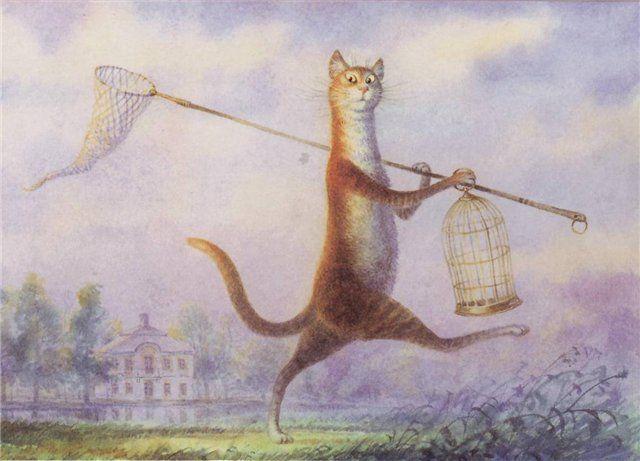 Из жизни обычного кота (13 картинок)