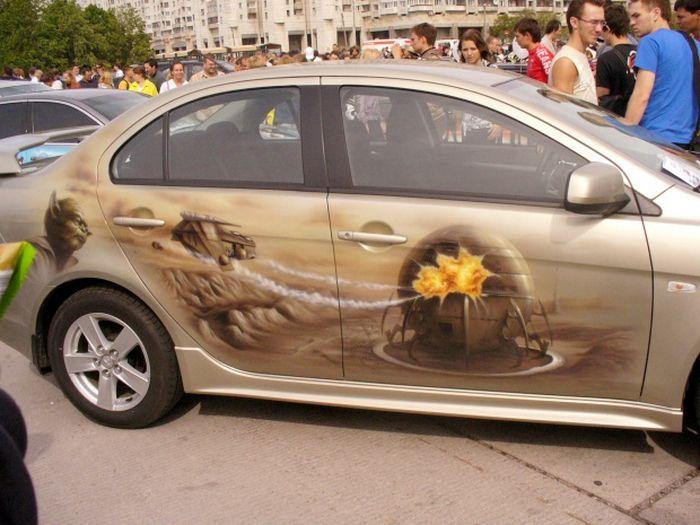 рисунки на машинах фото