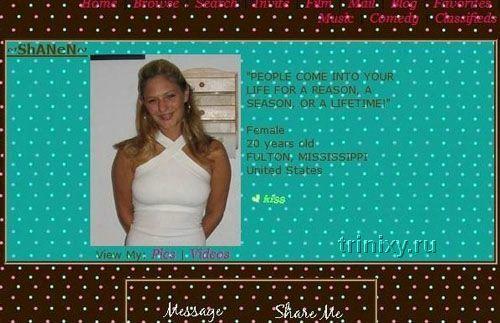 Девушки-блоггеры сайта Myspace.com (100 фото) МНОГО НЮ
