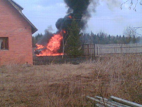 Ауди сгорела до тла за 5 минут (4 фото + текст)