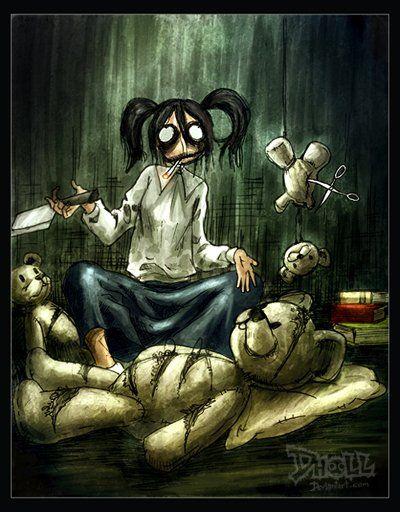 Классные страшные иллюстрации от Dholl (74 картинки)