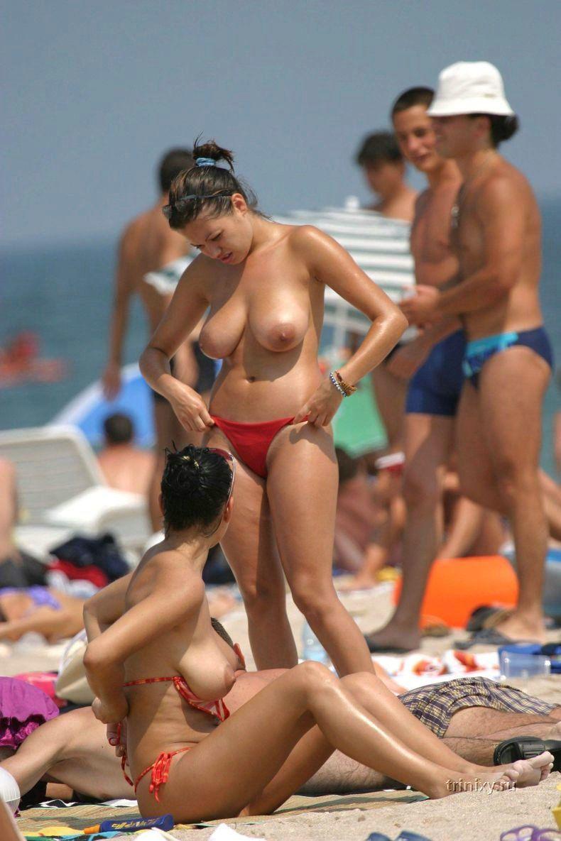 Лето, пляж, девушки (59 фото) НЮ