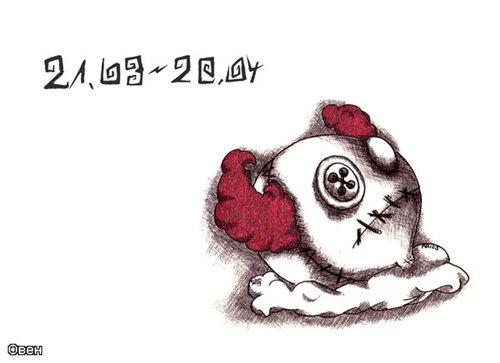 Очень необычные знаки Зодиака из кукол Вуду (12 картинок)