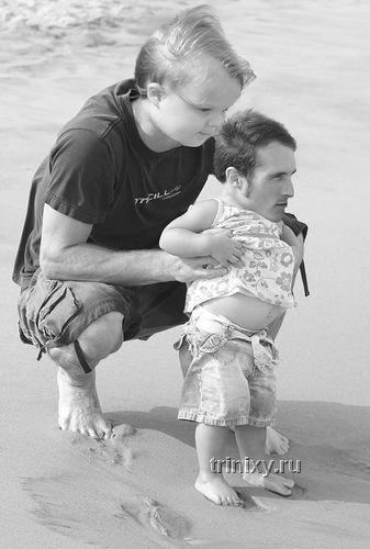 Фотожаба. Отцы и дети поменялись местами (24 работы)