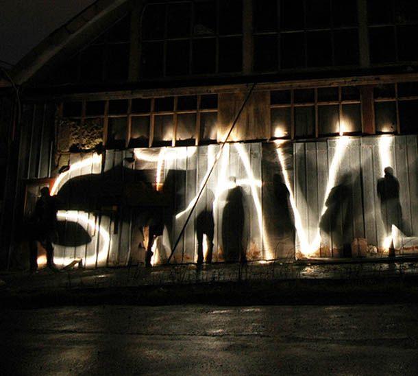 Световое граффити (фото и видео) .