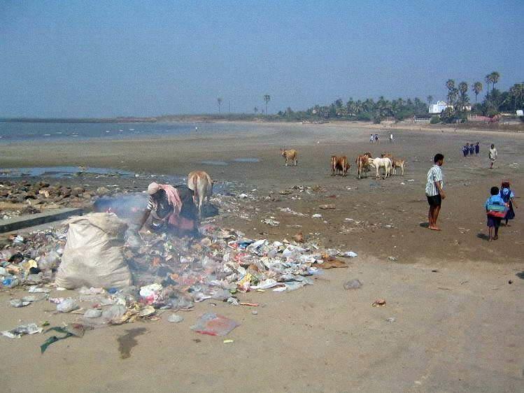Свалки на пляжах Индии (11 фото)