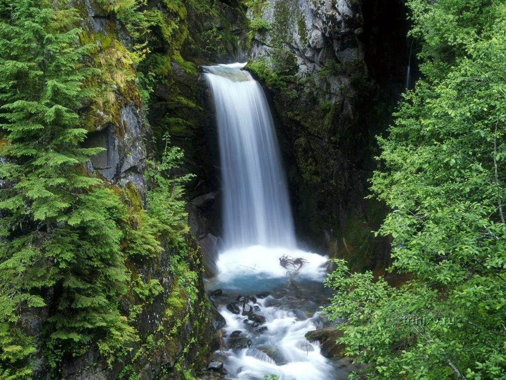 3d архитектура закаты водопады