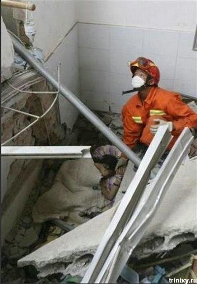 Жесть дня. Последствия землетрясения в Китае (7 фото)