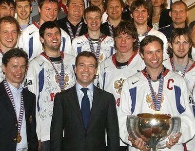 Встреча Президента с хоккеистами (24 фото)