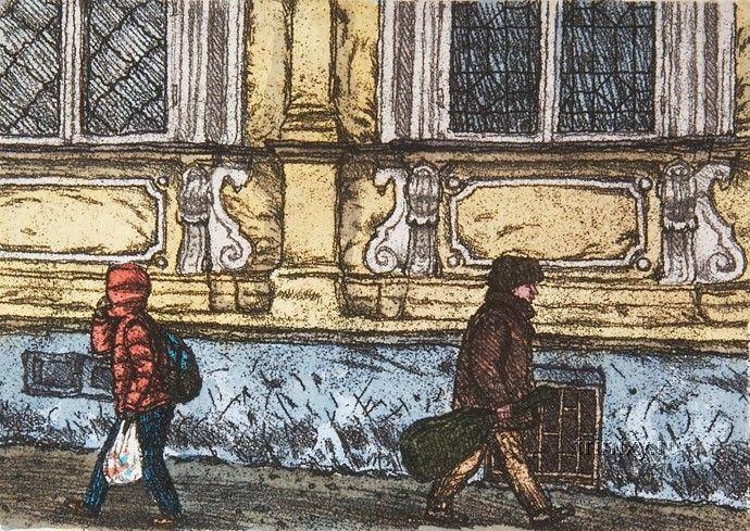 Прогулки по Москве. Художница Алена Дергилева (20 рисунков)
