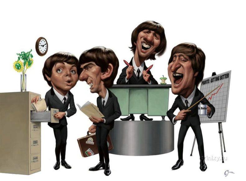 Карикатуры на знаменитостей (28 картинок)