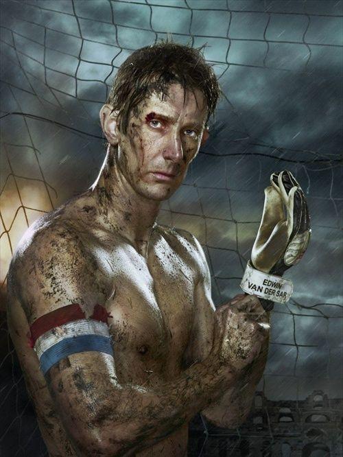 Классная фотосессия футболистов сборной Голландии (8 фото)