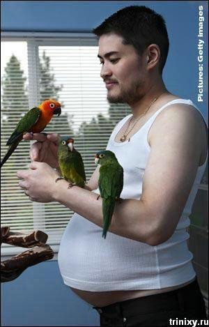 Фотосессия беременного мужчины (4 фото)
