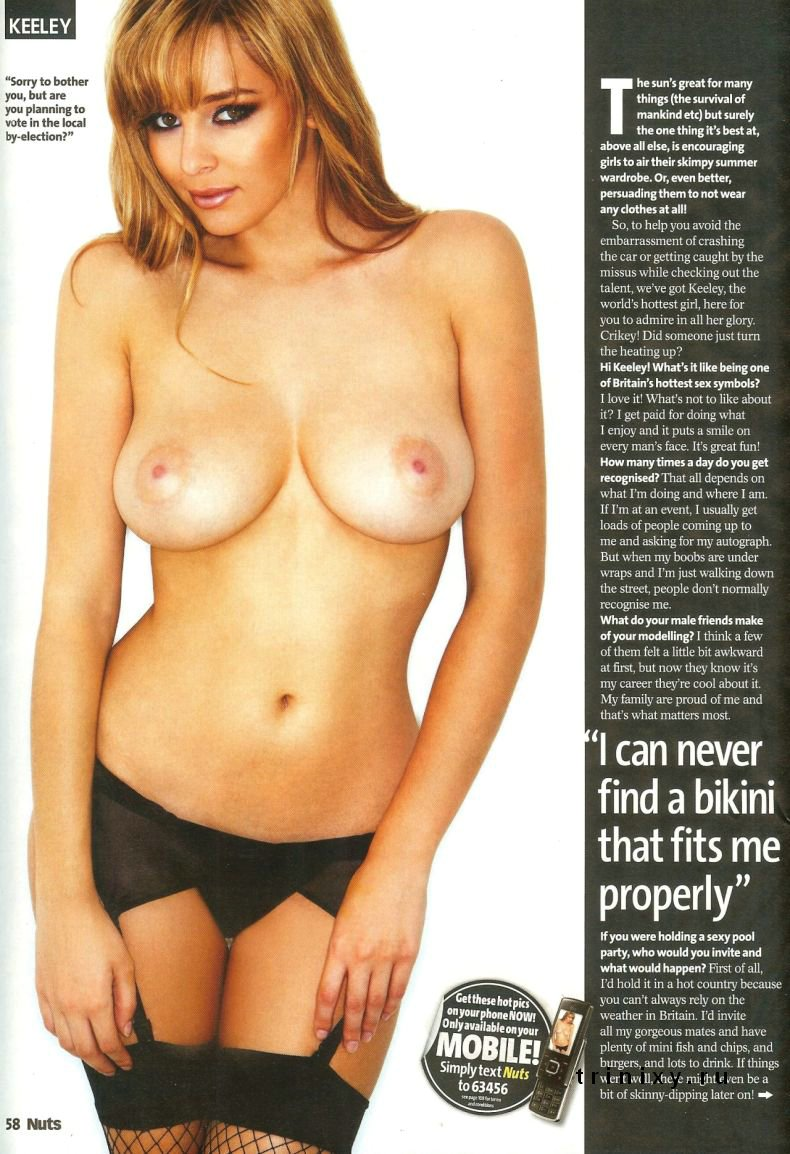 Кили Хазел (Keeley Hazell) топлесс в журнале Nuts (9 фото)