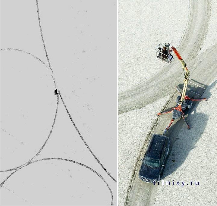 Самые большие рисунки, сделанные человеком на песке (27 фото)