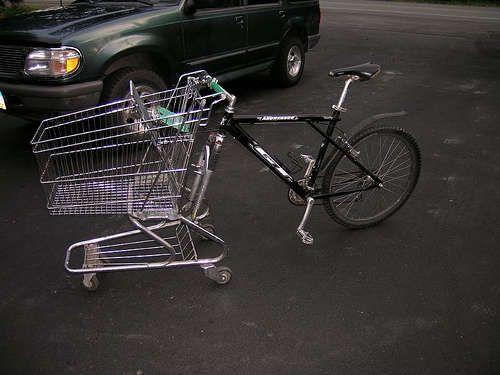 Как сделать коляску для велосипеда из дерева