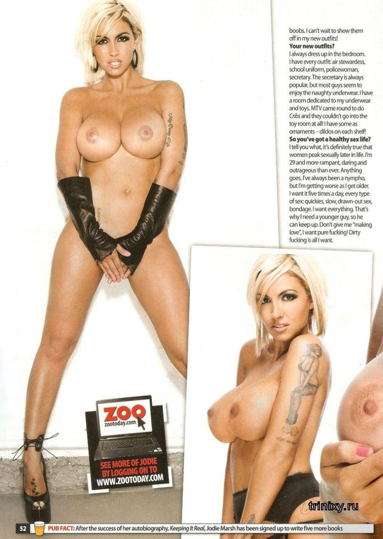 Джоди Марш (Jodie Marsh) топлесс в журнале ZOO (13 фото) НЮ