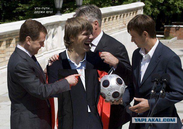 Угарная фотожаба - Президент и футболисты (65 работ)