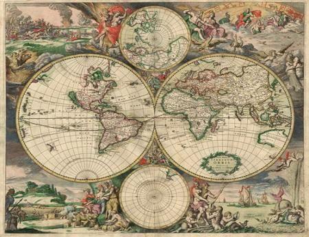 Старинные карты мира (16 Фото)