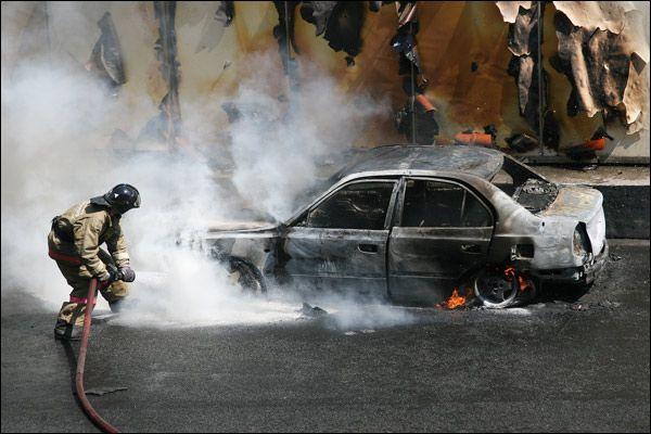 Жесть. Пожар на Садовом кольце (13 фото + видео)