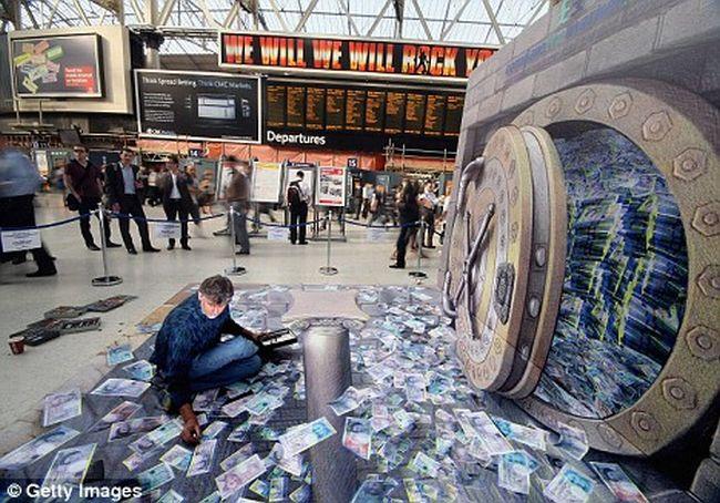 Миллионы евро в Лондонском Ватерлоо (7 фото)