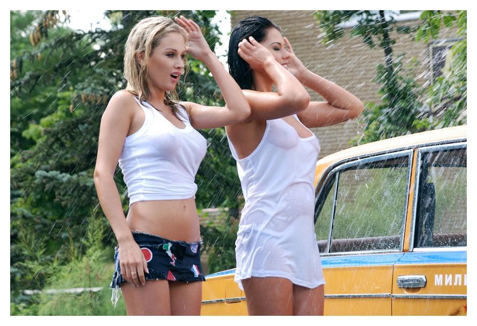 Группа XS в мокрых футболках во время съемок клипа с Потапом (45 фото)