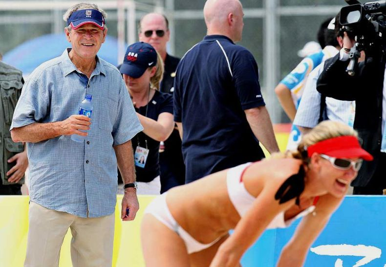 Буш на Олимпийских играх (7 фото)