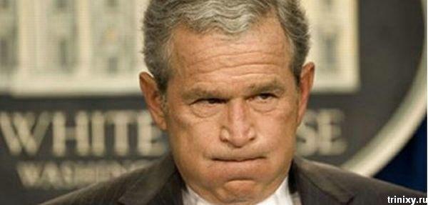 Эмоции Джорджа Буша (29 фото)