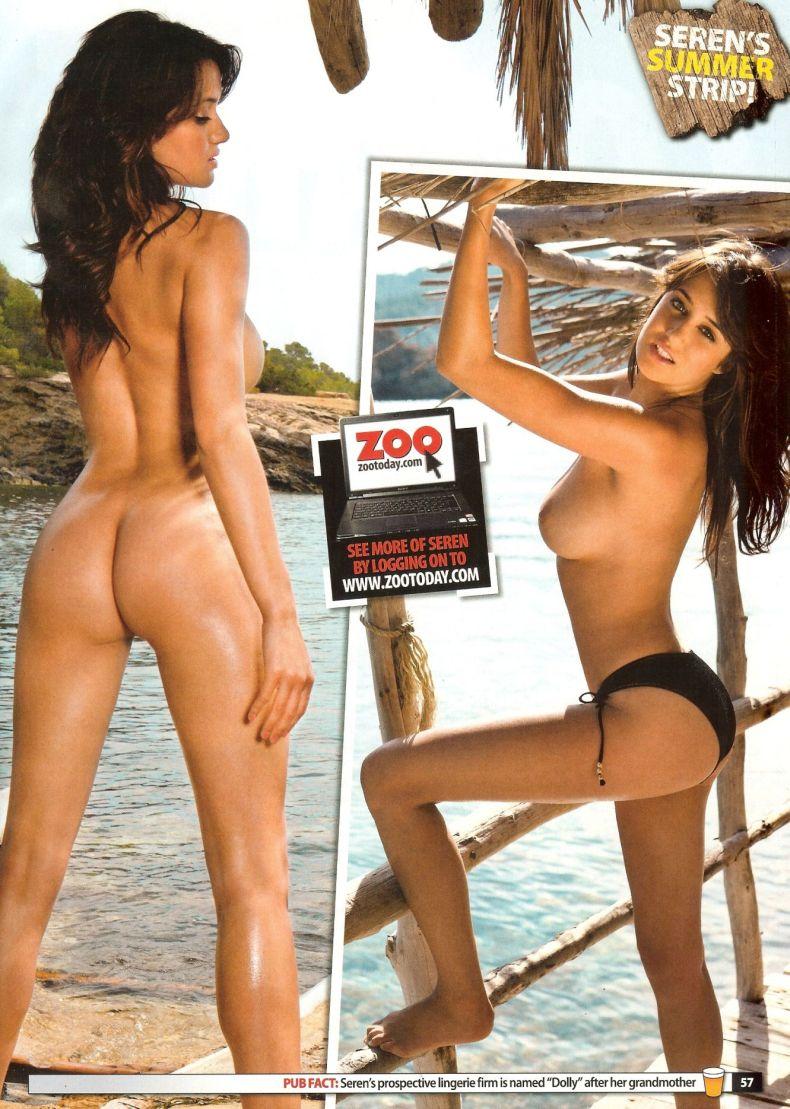 Seren Nogiet - знойная английская модель для журнала ZOO (13 фото)