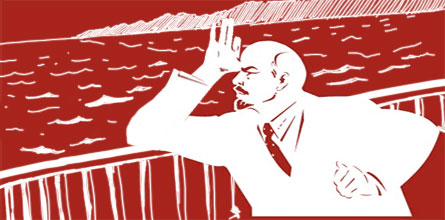 Прикольная фотожаба на плакат с Лениным (53 штуки)