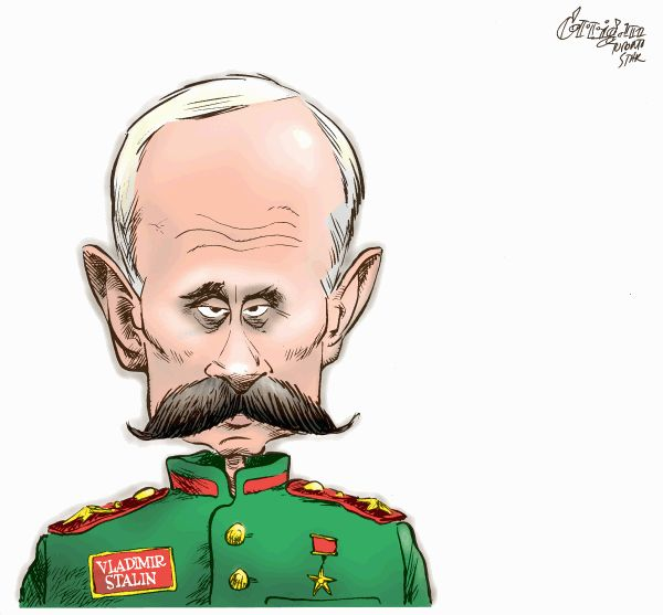 Западные карикатуры про Россию (28 штук)