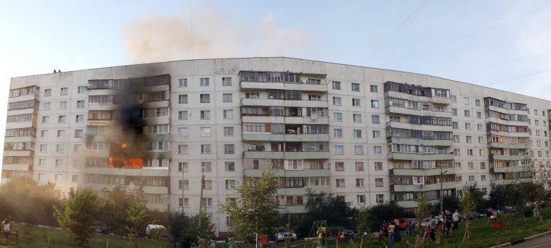 Ужасный пожар в Одинцово (20 фото)