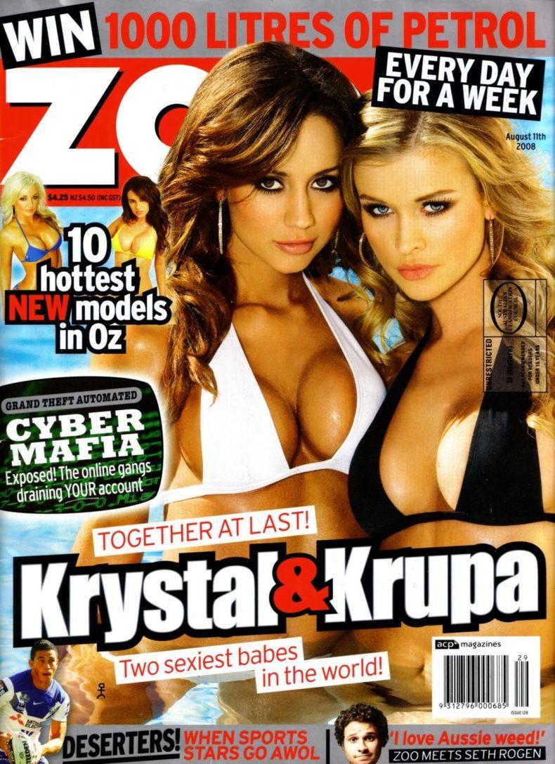 Кристал Форскут (Krystal Forscutt) и Джоанна Крупа (Joanna Krupa) в журнале Zoo (8 сканов)