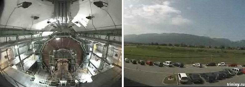 Камеры наблюдения Большого адронного коллайдера