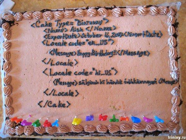 Поздравление с днём рождения программисту