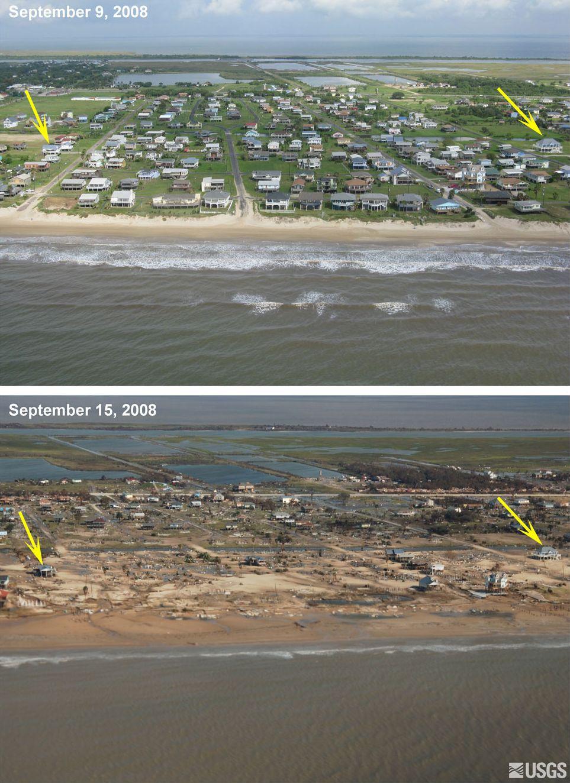 Ураган Айк. До и после (8 фото)