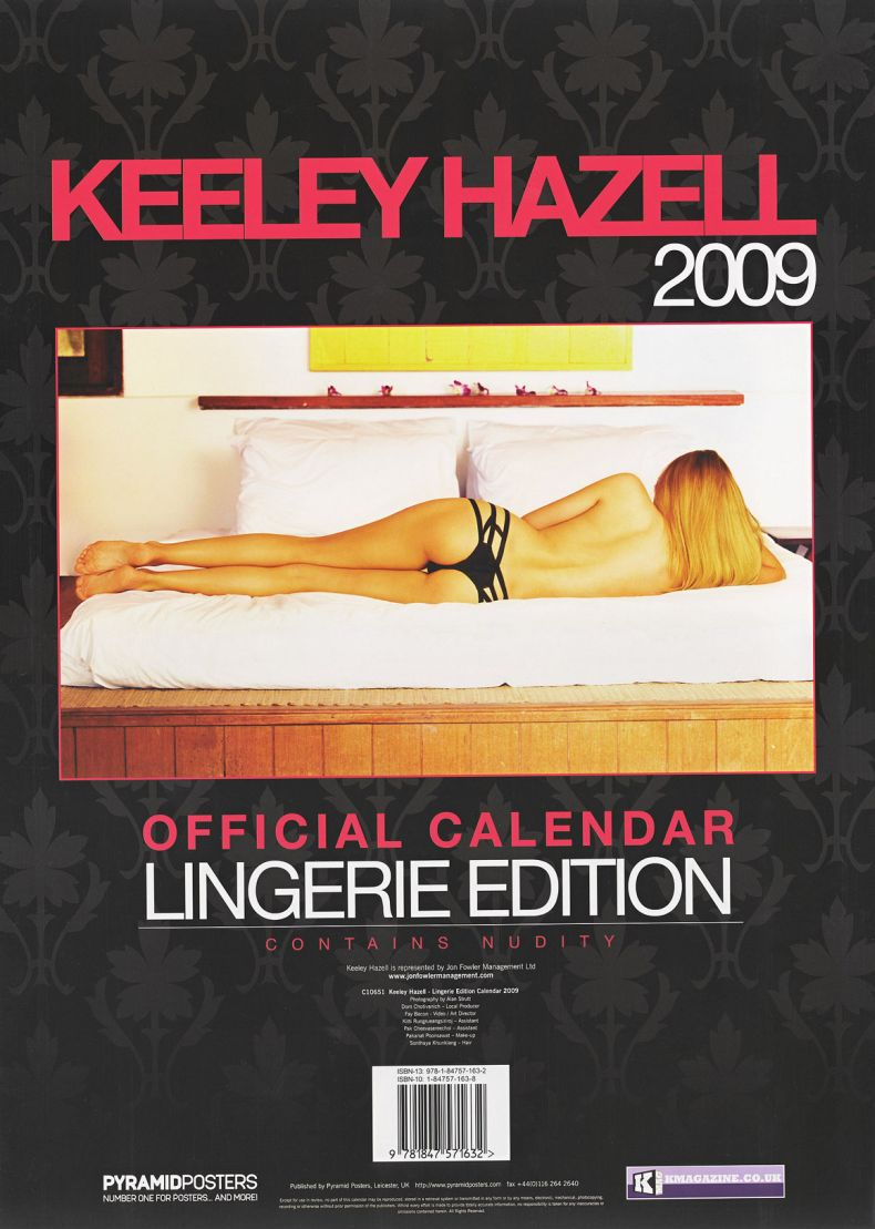 Кили Хазелл - официальный календарь на 2009 год (12 сканов) НЮ